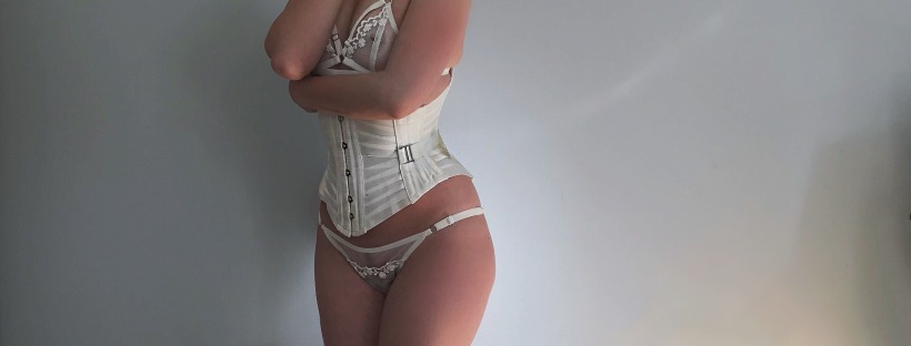 357d8161e3 IN THE NEST  ORCHID CORSETRY DUSK IVORY INC IVORY RIBBON CORSET ...