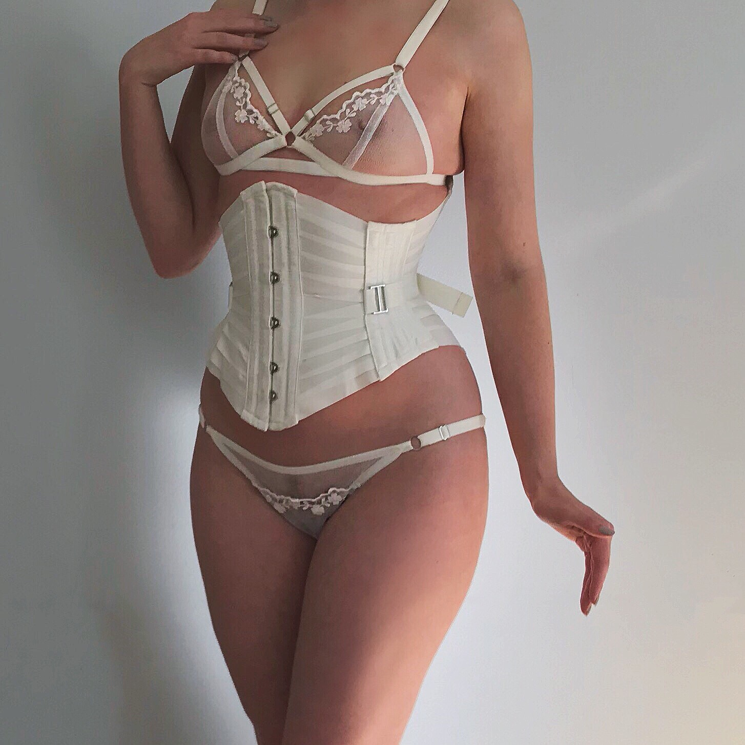 72af03ad2b ... 1454 × 1454 in IN THE NEST  ORCHID CORSETRY DUSK IVORY INC IVORY RIBBON  CORSET